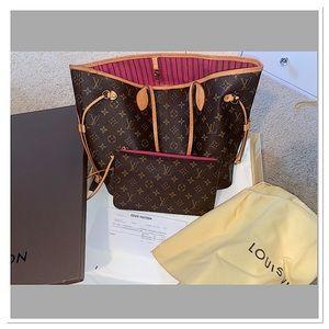 🌺Louis Vuitton Pivoine Peony Pink Neverfull MM